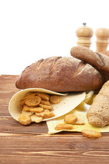 Different bread. Food background.