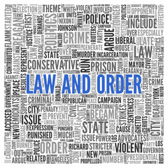 LAW AND ORDER Concept Word Tag Cloud Design