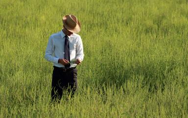 Pensive farmer