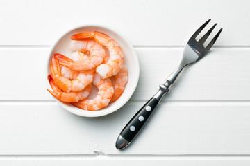 prawns in bowl