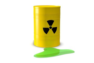 Lekkend vat radioactieve vloeistof