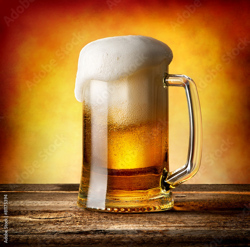 Mug of lager - 81175394