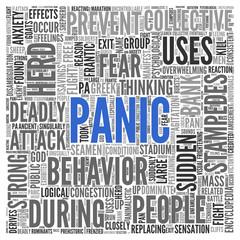 PANIC Concept Word Tag Cloud Design