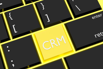 CRM Concept - Integrated with Keyboard