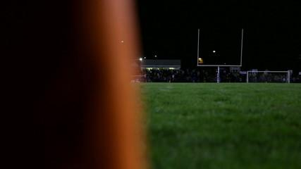 Football Stadium Pylon at Night