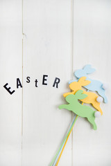 Easter Letters and Wooden Bunnies