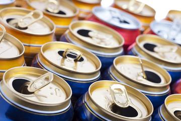 Empty beer aluminum cans ..