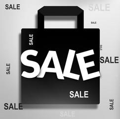 black shopping bag sale