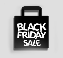 black friday, shopping bag sale