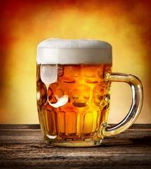 Figured mug of beer