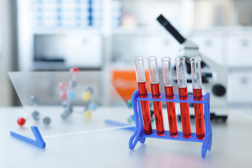 Chemical laboratory Bench with props