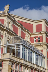 Detail of the city theatre in the center of Groningen