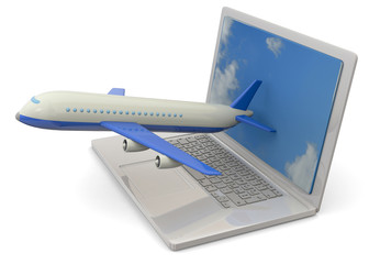 Computer and Airplanes - 3D