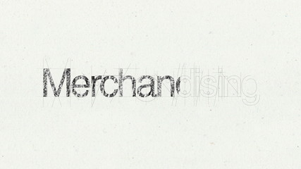 Text animation 'Merchandising' for presentations