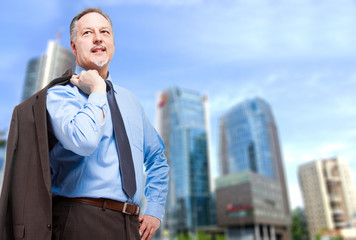 Senior businessman portrait outdoor