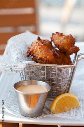 Fotobehang Caraïben Conch Fritters