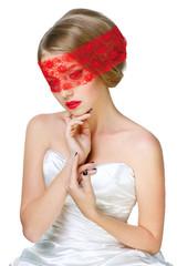 Mysterious beautiful blonde