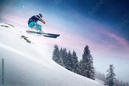 Tuinposter Wintersporten Ski Jump