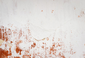 Old empty wall background, plaster falling off.