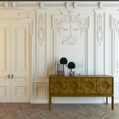 Wooden Cabot In Classic Room