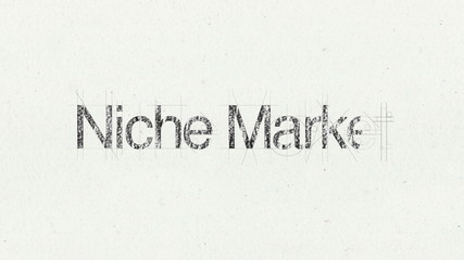 Text animation 'Niche Market' for presentations(included Alpha)
