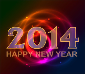 Happy New Year background with plasma, neon
