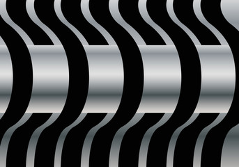 Abstract metal tube horizontal background