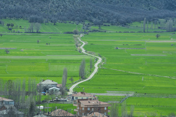 kırsal ve kıvrımlı yollar