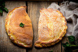 calzone with ricotta  and  nettle - 81186174