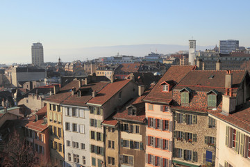 City panorama. Lausanne, Switzerland