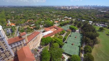 Aerial video Biltmore hotel and Golf Club
