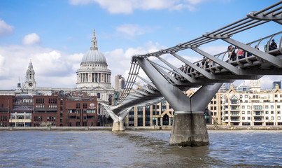 St Paul's Cathedral and the Millenium footbridge