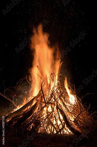 Foto op Plexiglas Vuur / Vlam lagerfeuer, feuer, brennen