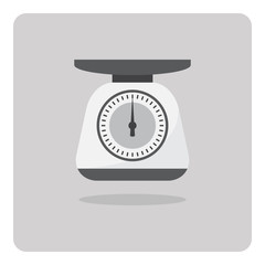 Vector of flat icon, weight scales on isolated background