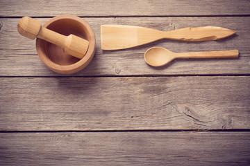 Kitchen wooden utensils