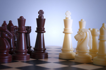 Beginning chessmen combat