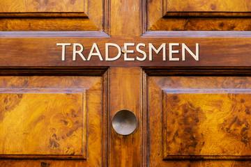 Tradesmen door sign