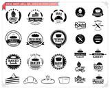 Vintage Bakery Logo Templates, Labels and Design Elements