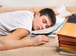 Teenager sleep with the Books - 81189919