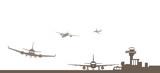 Skyline Flughafen