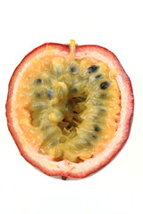 half of passion fruit