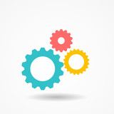 Photo: Gear Icon Vector Illustration