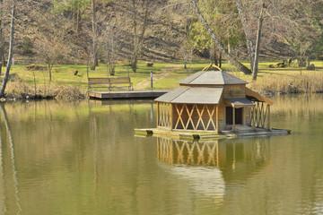 Фрагмент озера в ландшафтном парке