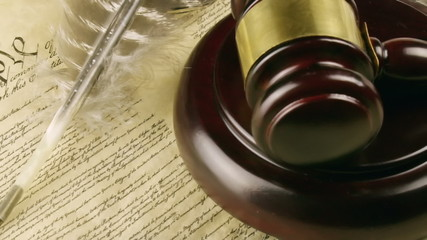 US Constitution Left Panning Motion
