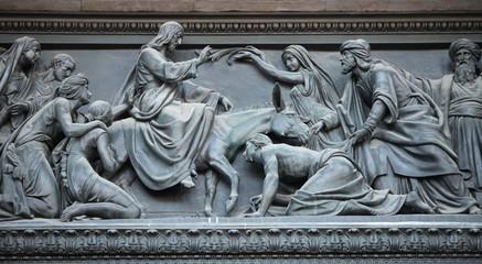 Jesus of entry in Jerusalem