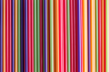 Full frame background of colorful drinking straws