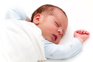 Newborn baby boy sleeping. Newborn Sleep. Two weeks old