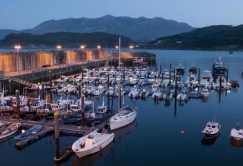 Puerto de Lastres. Asturias. Vista nocturna