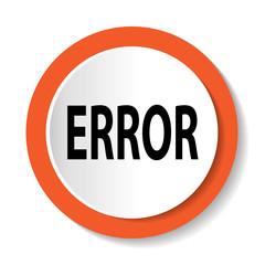 Векторный значок с надписью ERROR