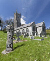 A Typical village church in cornwall, England.